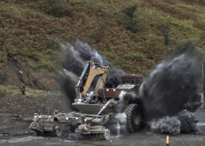 Pearson Engineering mine clearance vehicle tested in live explosive trials