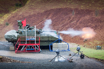 First firing of the General Dynamics AJAX 40mm Case Telescopic Ammunition (CTA) cannon system